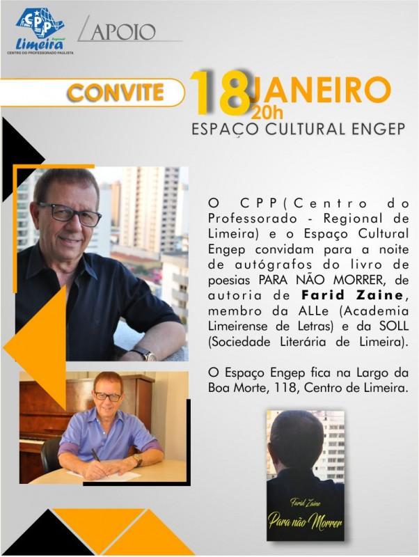 08.01.2018 - APOIO - convite livro Farid